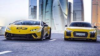 Bulkin на R8 vs Димас на Huracan Performante. Прыгнул через Lamborghini?