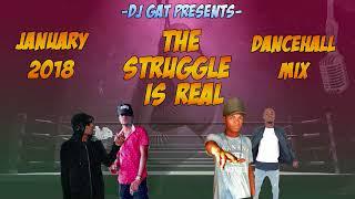 FEBURARY 2018  DJ GAT THE STRUGGLE IS REAL DANCEHALL MIX  FT ALKALINE/MASICKA/LEE DON 1876899-5643