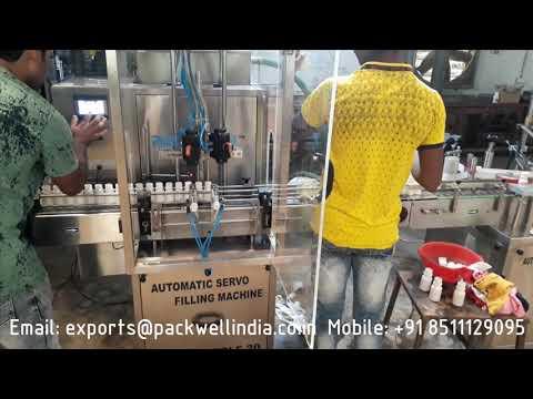 Servo Based Pesticides Liquid Filling Machine