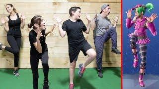 FORTNITE DANCE CHALLENGE! - (Workout Edition)