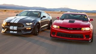 2016 Ford Mustang Shelby GT350R vs. 2015 Chevrolet Camaro Z/28 - Head 2 Head Ep. 71