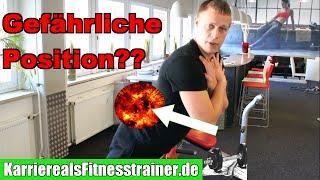 Gefährliche Position beim Rückenstrecker/Hyperextensions aufgedeckt!