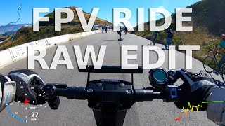 Minimotors Dualtron X - Raw FPV 4K60FPS Electric Scooter Ride (GoPro Hero 7 Black)