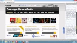 Cómo usar la barra de música de exitosmp3.com