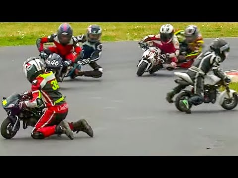 I didn't realize watching 6 year olds racing mini-sportsbikes would be so intense.
