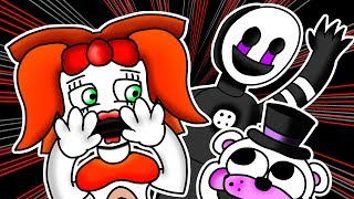 Circus Baby, Puppet and Freddy Suck Together - (Minecraft FNAF Rolepllay)