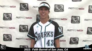 2022 Faith Barrett Lefty Slapper Outfield Softball Skills Video - SJ Lady Sharks