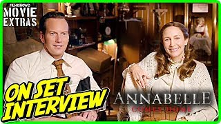 "ANNABELLE COMES HOME | Patrick Wilson ""Ed Warren"" & Vera Farmiga ""Lorraine Warren"" On-set Interview"