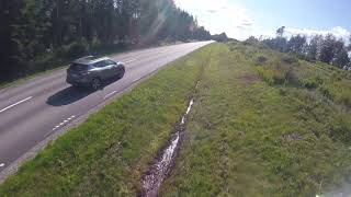 Flying a fpv drone from a moving car