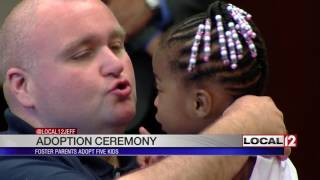 """""""No way were we going to split them up"""": Local foster parents adopt 5 siblings"""
