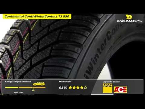 Youtube Continental ContiWinterContact TS 850 195/65 R15 91 T Zimní