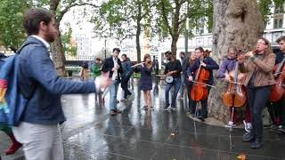 'Imagine Flash Mob' for World Peace Day 2017 in Leicester Square