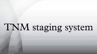 TNM staging system
