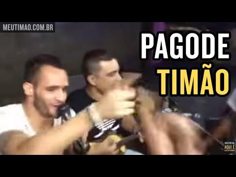 Jogadores do Corinthians mandam bem cantando pagode