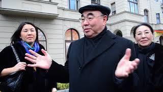 Встреча соотечественников и первого президента Кыргызстана, Аскара Акаева в Берлине