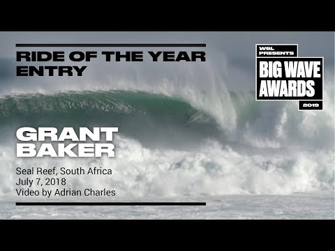 Grant Baker at Seal Reef 1 - 2019 Ride of the Year Entry - WSL Big Wave Award