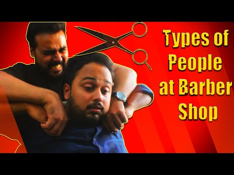 Types Of People At Barber Shop | Comedy Video | The Idiotz