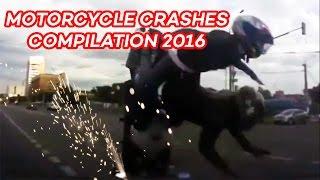 Motorcycle Crash Compilation & Road Rage 2016 HD
