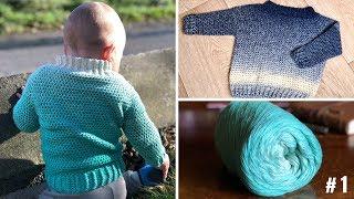 Anleitung Einfachen Pullover Für Jede Jahreszeit Häkeln самые