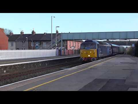 Rail Operations Group 47813 passes Bridgwater working Laira …