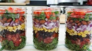 Southwestern Layered Salad & Edible Flowers