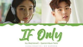 Joy (Red Velvet) (feat. Paul Kim) - 'If Only' Lyrics Color Coded | @Hansa Game