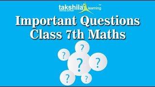 Class 7 Maths