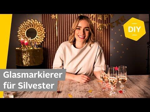 DIY: Glasmarkierer für Silvester selber machen   Roombeez – powered by OTTO