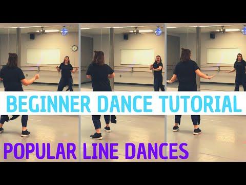 Popular Line Dances (BEGINNER DANCE TUTORIAL) Cupid Shuffle, Wobble, Cha-Cha Slide -- Step-by-Step