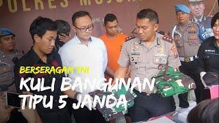 Pasang Foto Berseragam TNI di Medsos, Kuli Bangunan di Mojokerto Tipu 5 Janda