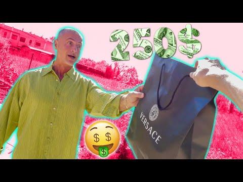HO REGALATO UNA CAMICIA VERSACE A MIO PAPÀ DA 250$!!