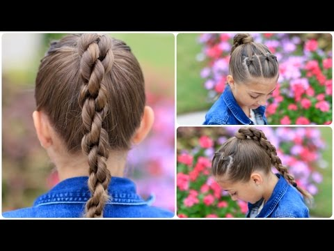 How to Create a Chain Link Braid   Sport Hairstyles