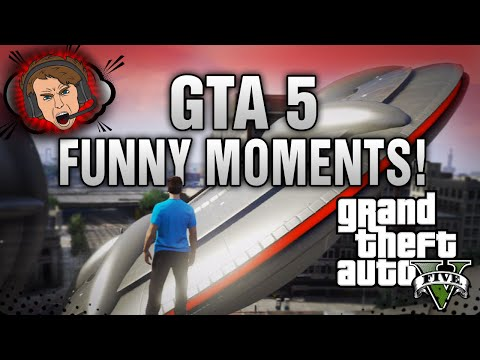 GTA 5 Funny Moments! - UFOs Online! (GTA 5 Funny Gameplay) | DALLMYD