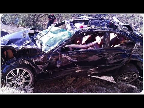 BMW M3 Car Crashes Over A Cliff