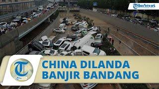 Video Banjir Bandang Kepung Kota Zhengzhou China, Arus Deras Terjang Mobil hingga Kereta Bawah Tanah