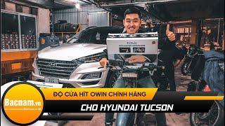 Hyundai Tucson trắng độ lên Cửa Hít điện Owin Sang trọng và lịch lãm