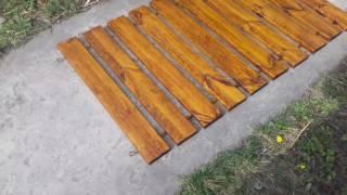 Дорожка деревянная для пляжа (от 3 пог.м) от компании Магазин счастья и любви - видео