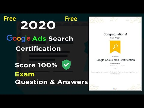 Google Ads Search Certification Exam Question and Answers 2020 ...