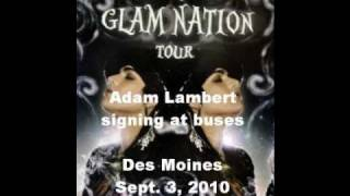 Adam Lambert Signing in Des Moines