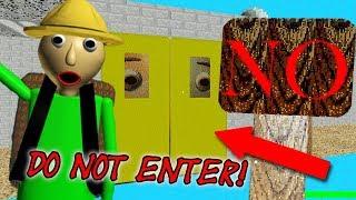BALDI'S SECRET FORBIDDEN DOOR! | Baldi's Basics Field Trip UPDATE