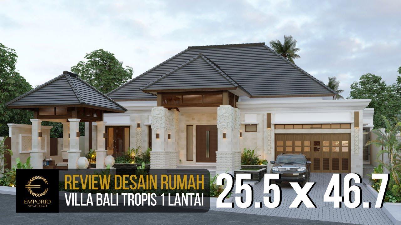 Video 3D Mr. Ayat Villa Bali House 1 Floor Design - Serang, Banten