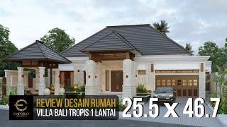 Video Desain Rumah Villa Bali 1 Lantai Bapak Ayat di  Serang, Banten