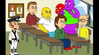 Barney sings the I love you song in class/gets grounded