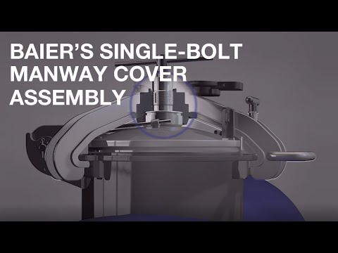 Baier's Single-Bolt Manway Cover Assembly