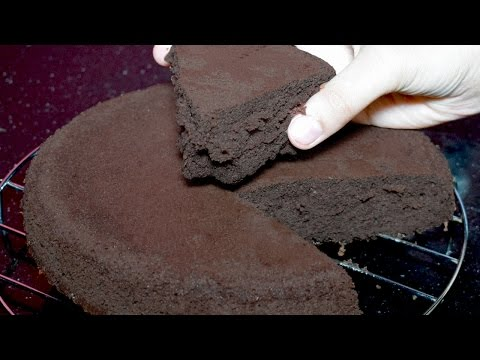 Video Chocolate Sponge Cake Recipe - Without Oven Cake Recipe - Chocolate Cake Recipe