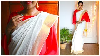HOW TO  PLEAT AND DRAPE A SAREE || STEP BY STEP BEGINNERS GUIDE  #100dayswithsowbii DAY33