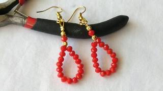 DIY Beaded Wire Earring - Tutorial/ Beaded Earring Making
