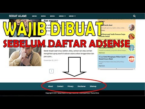 , title : 'Cara buat About, Contact, Privacy Policy, Disclaimer dan Sitemap Blog'