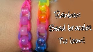 Diy Beaded Raimbow Loom Bracelet Without Loom, Easy Cute Bracelet