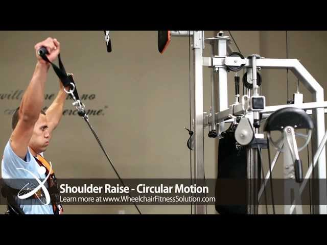 Wheelchair Fitness Solution | Exercise: Shoulder Raise – Circular Motion (18 of 40)